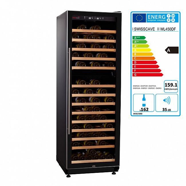Armoire à vin climatisée  WL 450DF à deux zones tempérées