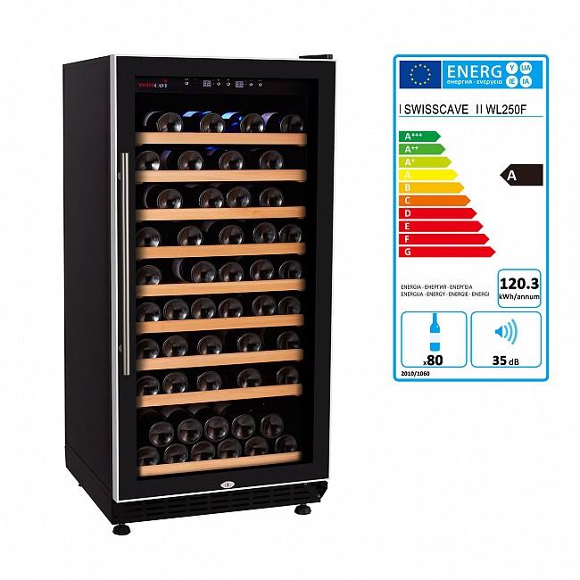 Armoire à vin climatisée à une zone tempérée, WL 250F