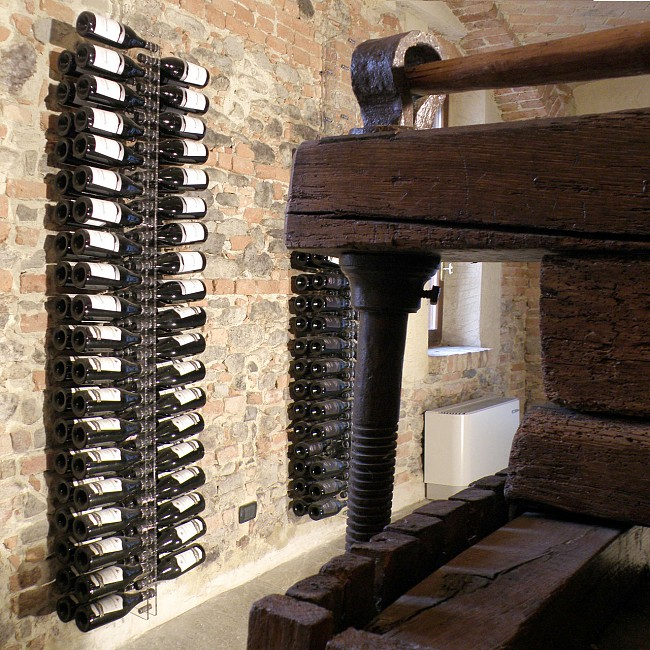 Acryl-Weinregal `Orvieto Double`