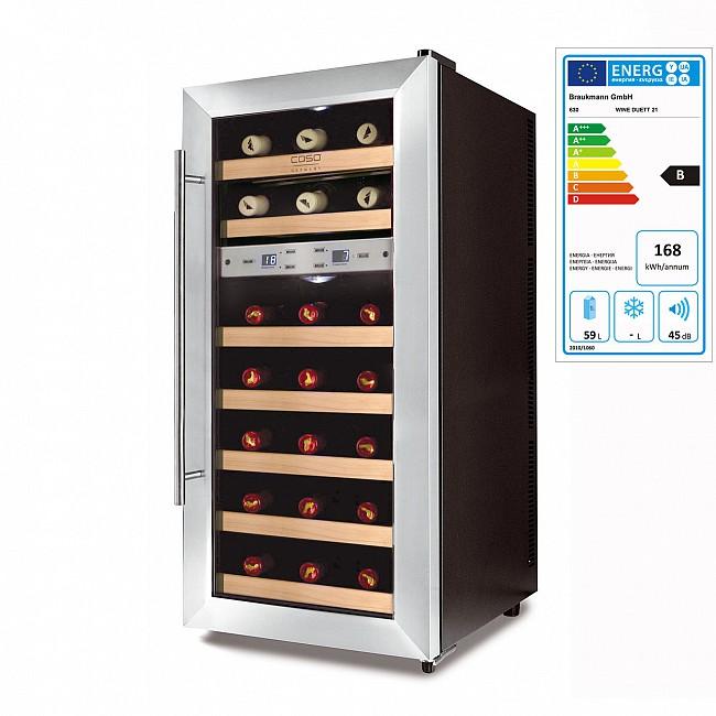 Armoire climatisée WINE DUETT pour 21 bouteilles